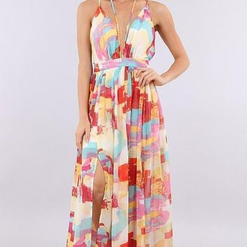 I'm Still Here Watercolor Maxi Dress