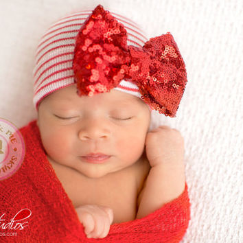 Newborn Christmas, baby girl christmas, newborn hat, christmas, baby girl, newborn girl christmas, xmas baby, newborn girl, holiday baby