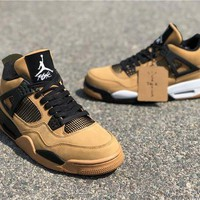 DCCK Travis Scott x Air Jordan 4 Wheat
