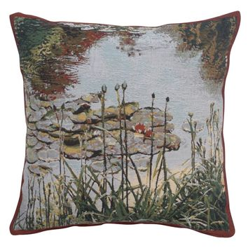 Waterlily Monet's Garden European Cushion