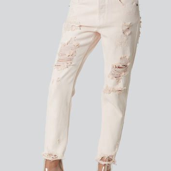 Blush Crush Distressed Jeans