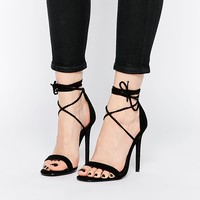 Missguided Barely There Tie Up Sandals