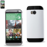 Reiko TPU+PC PROTECTOR COVER HTC ONE M8 GRAY WHITE