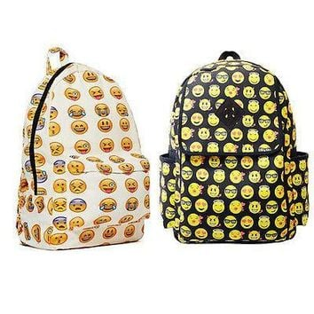 Boys Girls Smiley Fangirl Emoji Backpack Funny Satchel Shoulder School Bag
