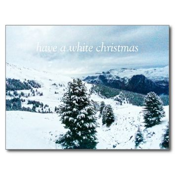 have a white christmas postcard