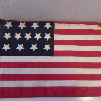 Vintage Mini 13 Star American Flag Patriotic Crafting Home Decor Veterans Day Fourth of July