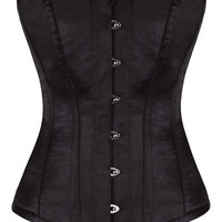 Black Satin Corset - Gothic corsets and bodices