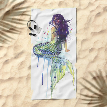 Mermaid Beach Towel by samnagel