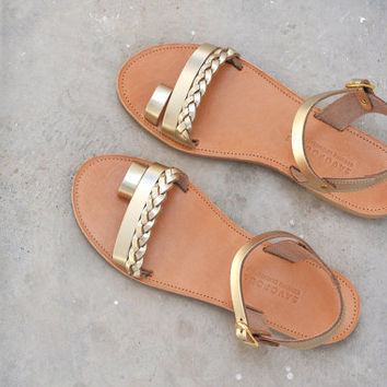 Greek sandals, Leather sandals, Greek leather sandals, Leather sandals women, Gold sandals, Wedding sandals, Women sandals, DALIDA