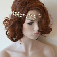 Wedding Headband, Bridal Pearl Headband, Pearl Headpieces, Pearl Headbands, / Bridal Hair Accessories, Wedding Hair Accessories