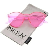 zeroUV - One Piece PC Lens Rimless Ultra-Bold Colorful Mono Block Sunglasses 60mm