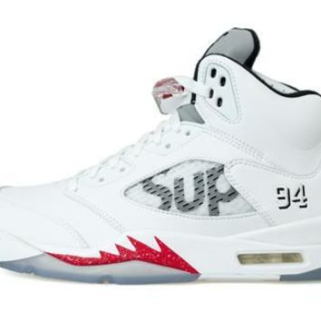 Best Deal Air Jordan 5 x Supreme White