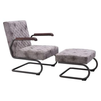 ZUO Modern Father Lounge Chair Vintage White 100407 Living Chairs