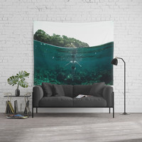 Floating Wall Tapestry by nicklasgustafsson