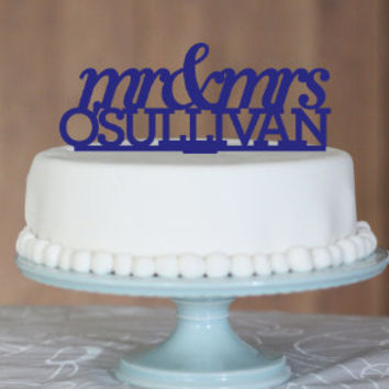 Wedding Cake Topper, cake topper, name cake topper, Personalised wedding cake topper, Mr and Mrs, custom cake topper, monogram cake toppers