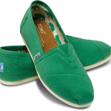 Classics - Green Apple Canvas Women's Classics | TOMS.com