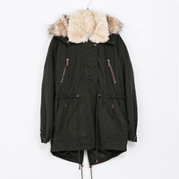 COAT WITH DETACHABLE HOOD - Coats - TRF | ZARA Canada