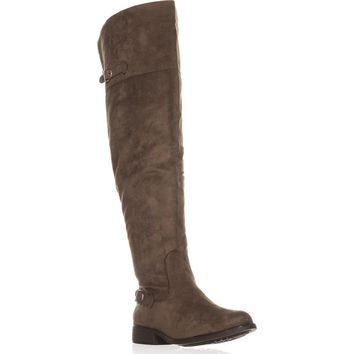 AR35 Adarra Wide Calf Over The Knee Boots, Truffle, 10 US