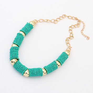 Shiny Stylish Gift Jewelry New Arrival Bohemia Handcrafts Trendy Summer Necklace [6586261703]