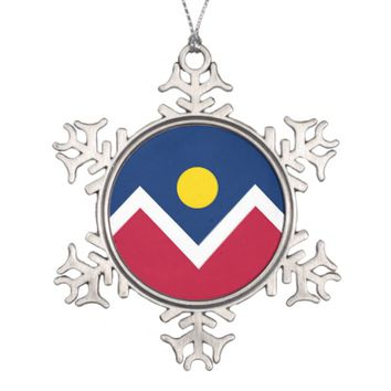 Snowflake Ornament with Denver City Flag
