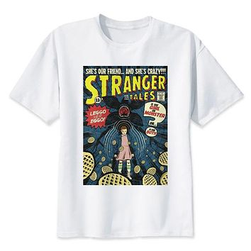 stranger things t shirt 2017 anime t-shirt men O-neck mens tee shirts high qualty men shirt summer men tshirt