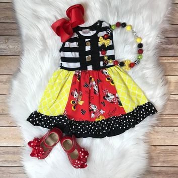 RTS- Adorable Mouse Girl Dress w/ Optional mouse necklace! D-46