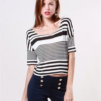 A'GACI Varigated Stripe Dolman - Tops
