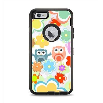 The Fun-Colored Cartoon Owls Apple iPhone 6 Plus Otterbox Defender Case Skin Set