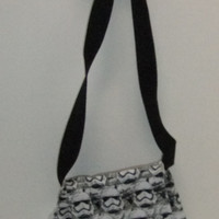 Small Messenger Bag - made by me using Licensed Star Wars fabric - crossover purse