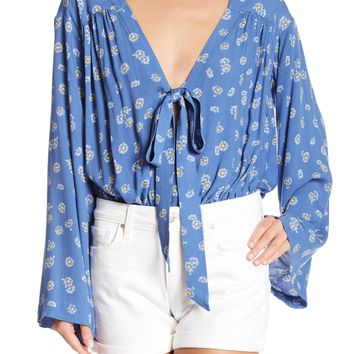 Free People | Forties Feel Bell Sleeve Bodysuit | Nordstrom Rack