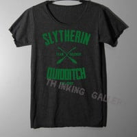 Slytherin Quidditch Shirt Harry Potter Shirt TShirt T Shirt Tee Shirts - Size S M L