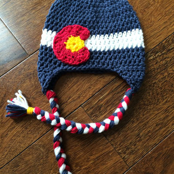 Colorado - Pride - Earflap - Hat - with - Braids - Children