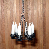 Wrought Iron Chandelier, Medieval Dollhouse Miniature 1/12 Scale, Hand Made in the USA