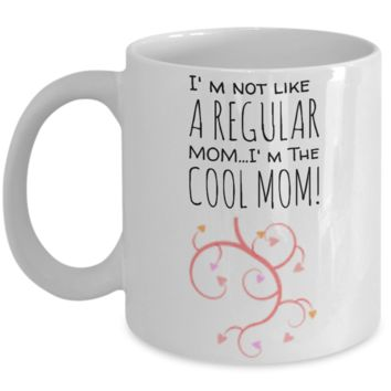 Holiday Mother's Day 2017 Morning Coffee Mug - Funny Sayings & Quotes Mom Gift for Her - Hot Cocoa, Milk, Cookies, Candy & Pencil Cup for Women & Mothers