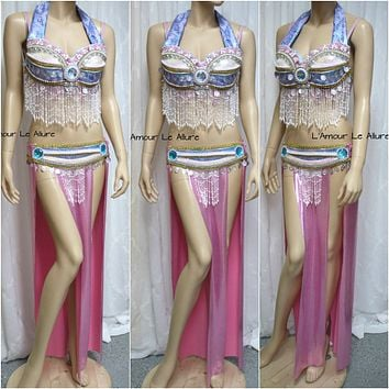 {SALE ITEM} Pink and Blue Sylveon Gypsy Belly Dancer Cosplay Costume Pokemon