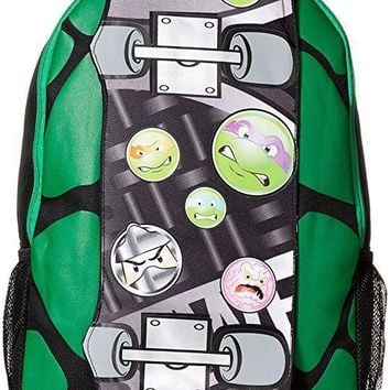 Teenage Mutant Ninja Turtles Boys' Skateboard 17 Inch Backpack