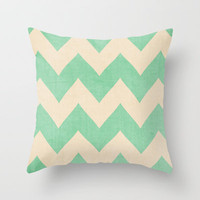 Malibu - Chevron Throw Pillow by CMcDonald | Society6
