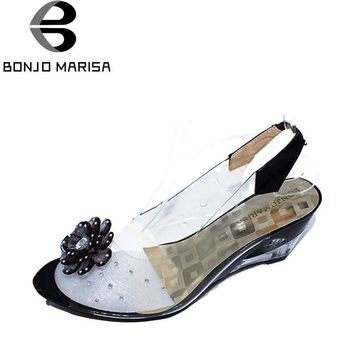 Rome stylish high quality fashion wedge heel sandals women shoes