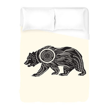 Ornate Bear Duvet Cover