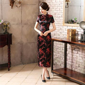 Traditional Chinese Style Dress Women's Long Cheongsam Elegant Slim Qipao Clothing Plus Size S M L XL XXL XXXL 4XL 5XL 6XL J3082
