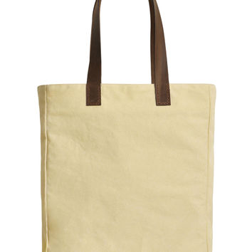 Customize Large Tote Hand Bag Leather Handles Printed Canvas Photo Text Logo