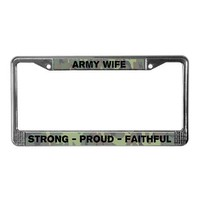 Army Wife License Plate Frame on CafePress.com