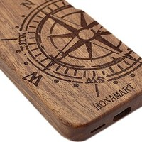 BONAMART ® Compass Natural Real Bamboo Wood Protective Hard Back Case Cover For Apple iPhone 5C