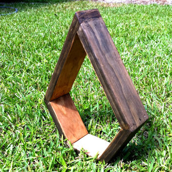 Tear Droop Wooden Shelf- Custom stain available.