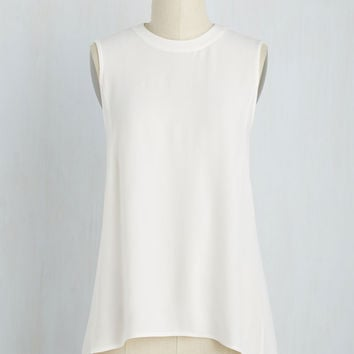 Stay Classic, San Diego Tank Top in White | Mod Retro Vintage Short Sleeve Shirts | ModCloth.com