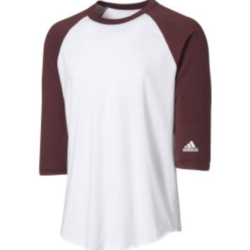 adidas Adult Triple Stripe ¾ Sleeve Baseball Practice Shirt | DICK'S Sporting Goods