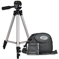 Digital Concepts Mini Camcorder/Camera Starter Kit w/Aluminum Tripod, Carry Case & Cleaning Cloth