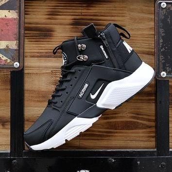 Huarache x Acronym City MID Leather Black/White Sneaker Shoes