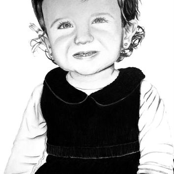 Size A4 Custom Charcoal and Graphite pencil portrait