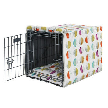 MicroVelvet Luxury Dog Crate Cover — Luna